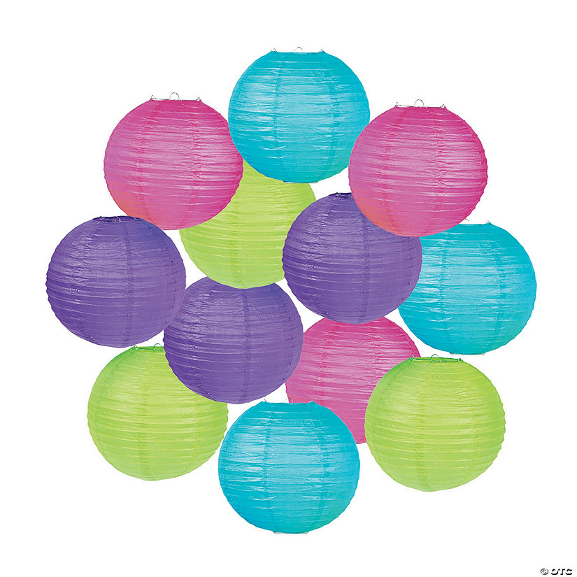 Bright Hanging Paper Lanterns