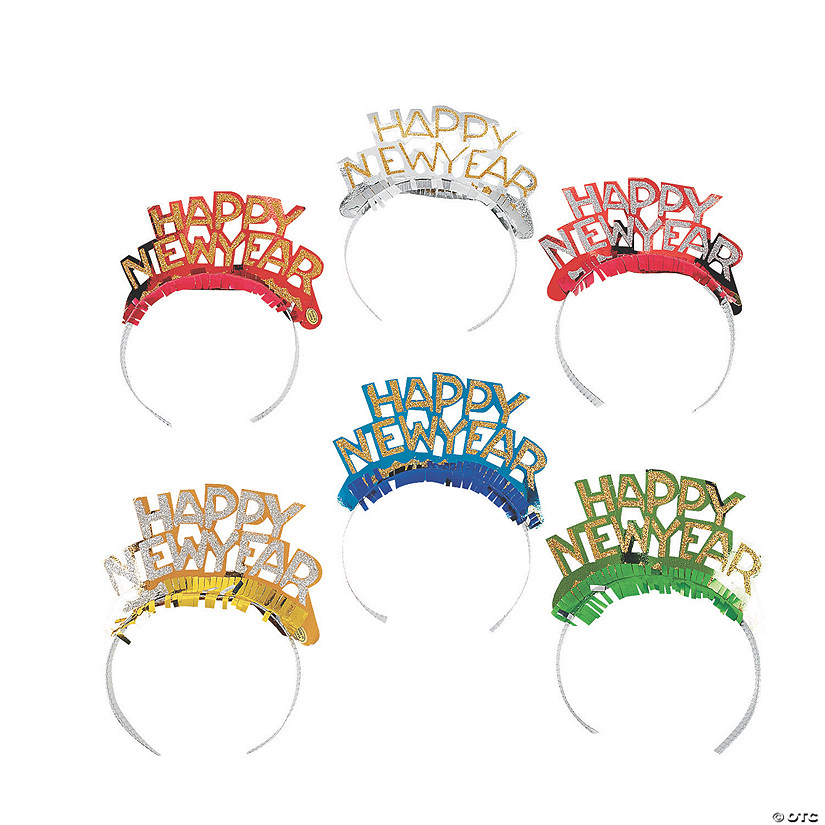 Bright Happy New Year Tiaras Assortment Audio Thumbnail
