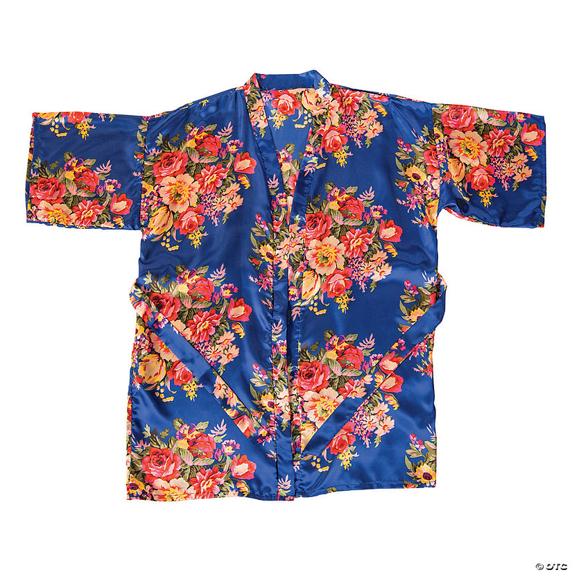 Bright Navy Floral Robe Audio Thumbnail