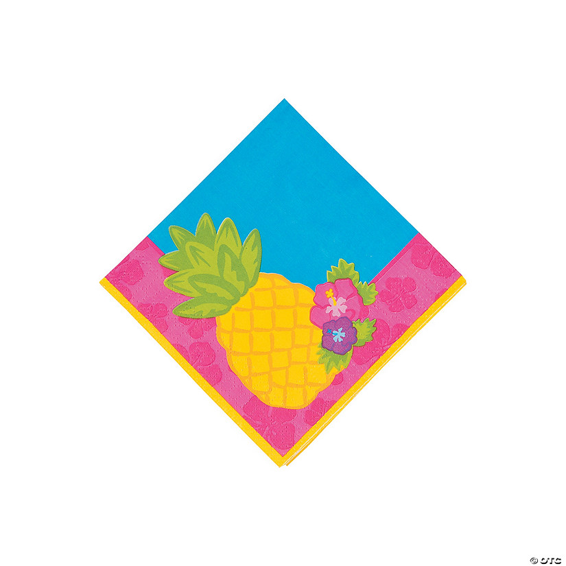 Bright Pineapple Beverage Napkins