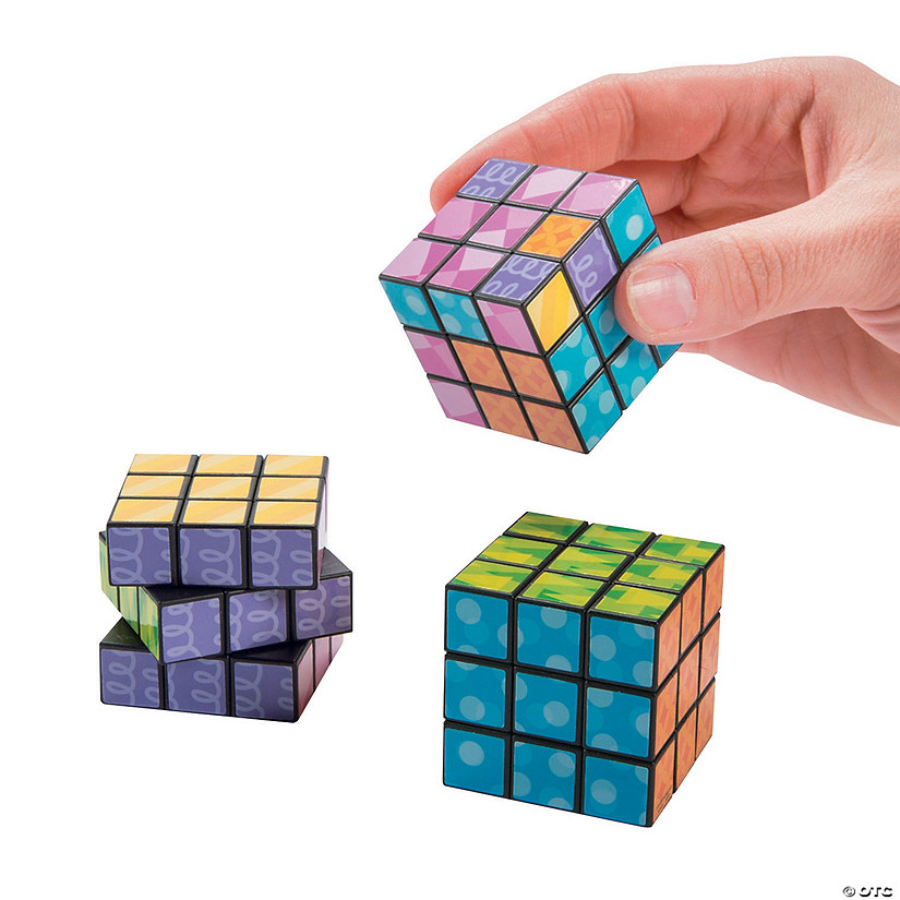 Bright Printed Mini Puzzle Cubes Image Thumbnail