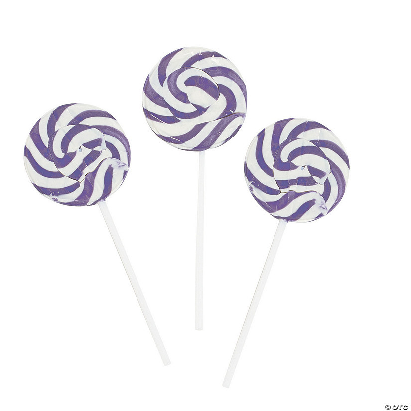 Bright Purple Swirl Lollipops