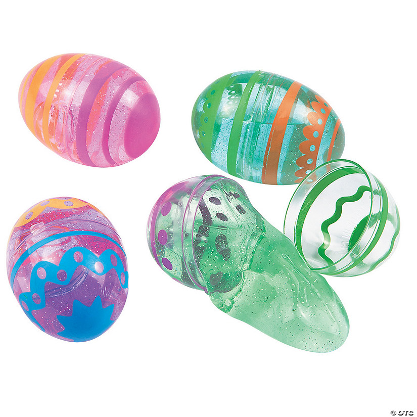 Bright Putty-Filled Plastic Easter Eggs - 12 Pc. Audio Thumbnail