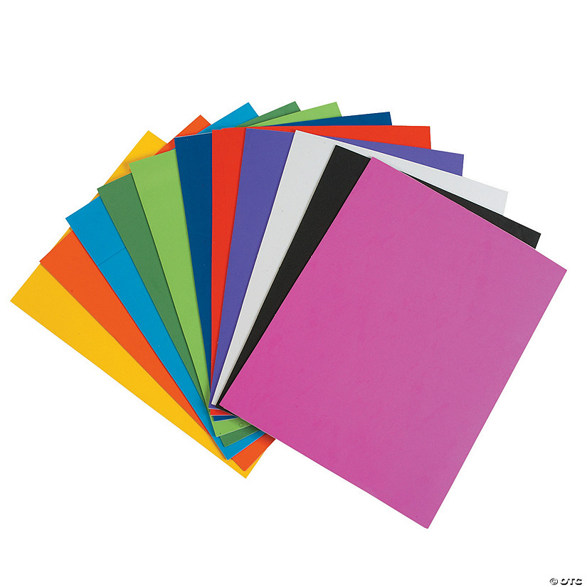 Bright Self-Adhesive Foam Sheets
