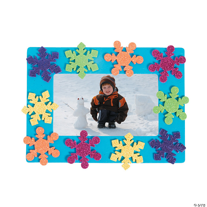 Bright Snowflake Picture Frame Magnet Craft Kit Audio Thumbnail