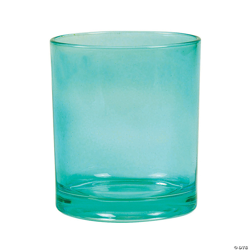 "Bright Teal Cylinder Vases - 4"" Audio Thumbnail"