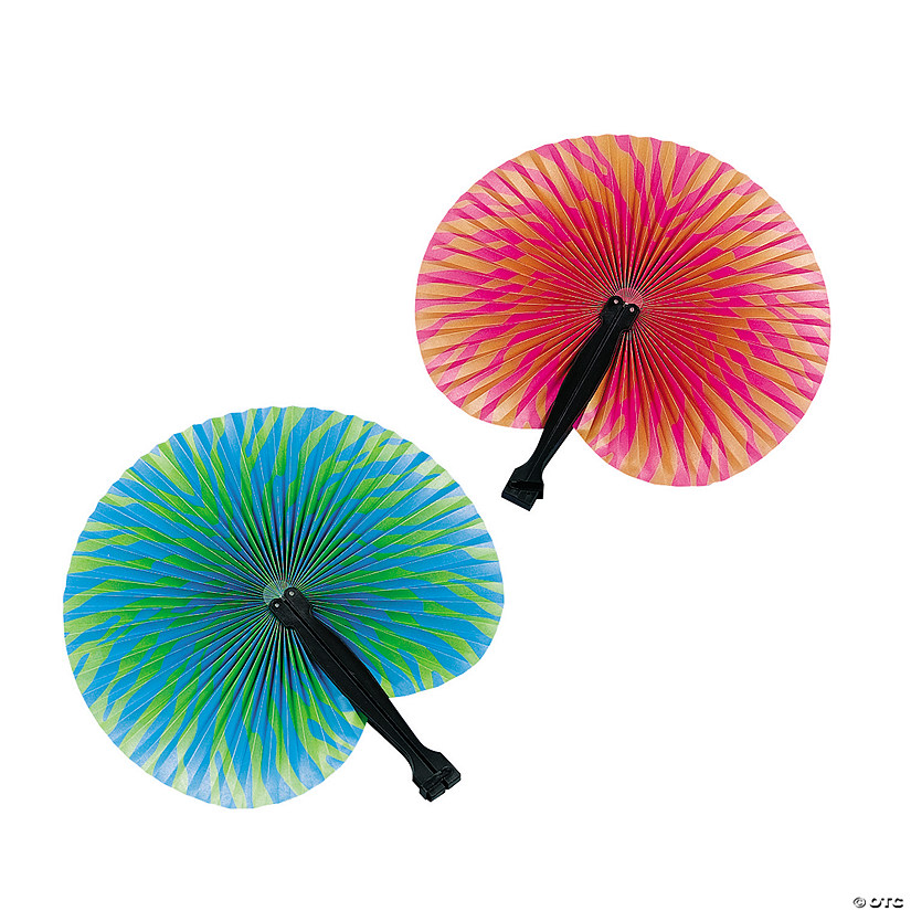 Bright Tropical Folding Hand Fans