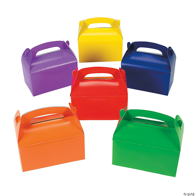 Brightly Colored Favor Boxes Image Thumbnail