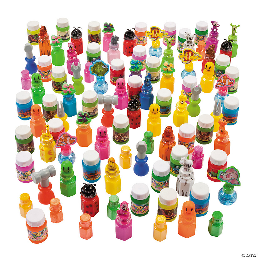 Bubble Bottle Assortment - 100 Pc. Image Thumbnail