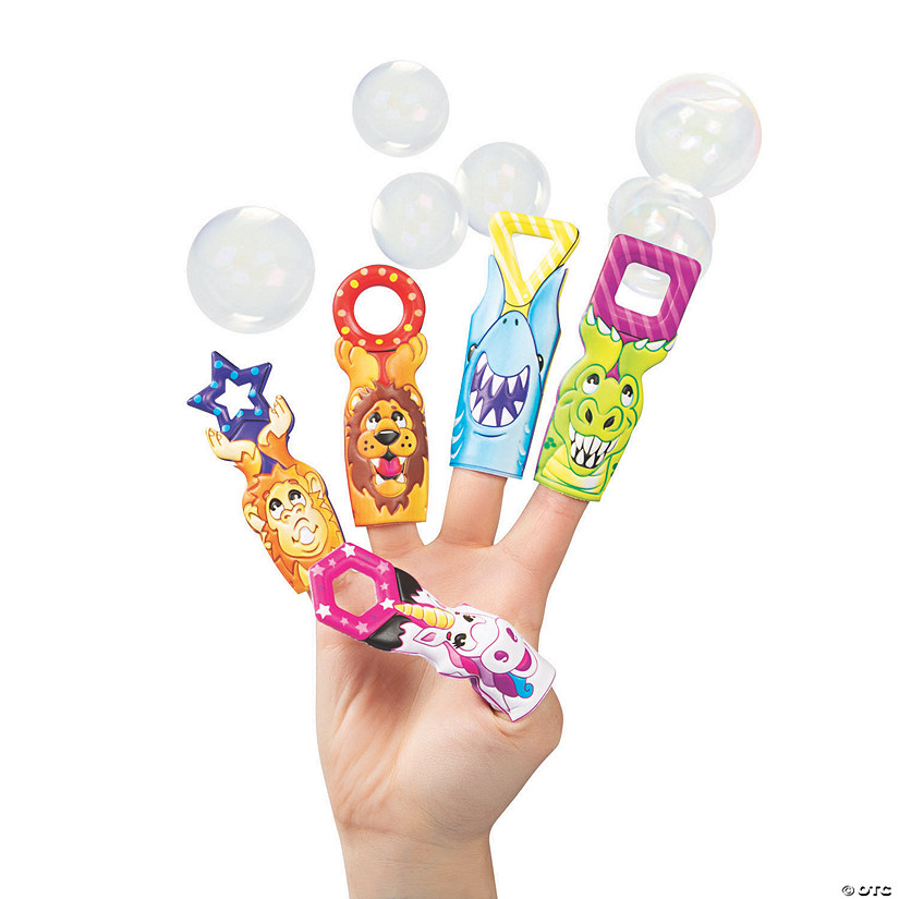 Bubble Wand Puffy Finger Puppets