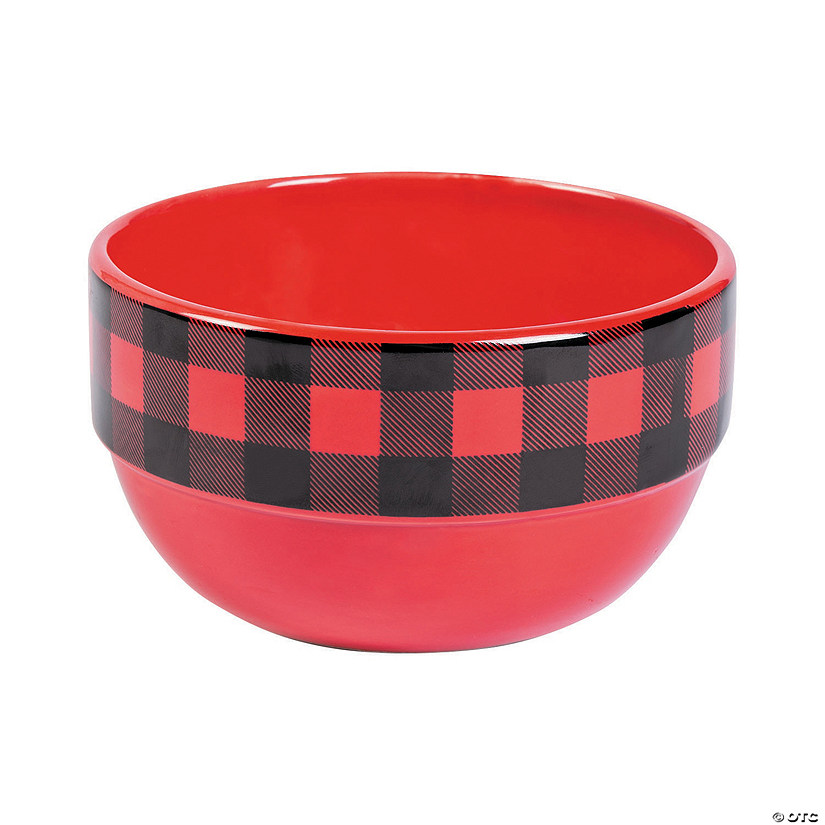Buffalo Plaid Ceramic Bowls