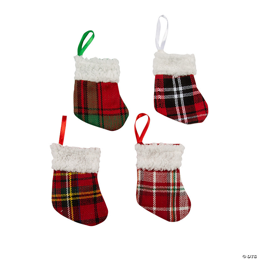 Buffalo Plaid Mini Stocking Ornaments