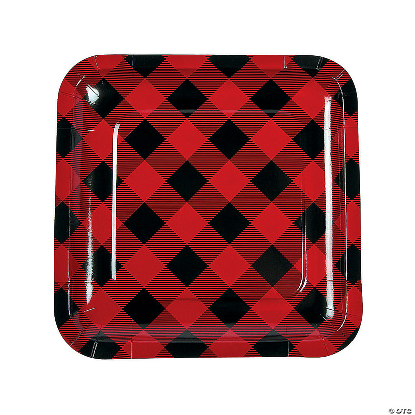 Buffalo Plaid Paper Dinner Plates Audio Thumbnail