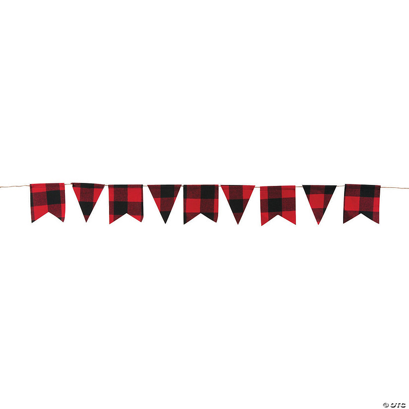 Buffalo Plaid Pennant Garland