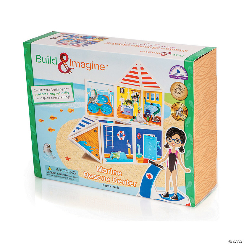 Build & Imagine Marine Rescue Center Magnetic Building Kit Image Thumbnail