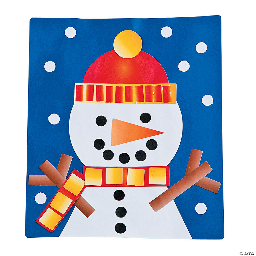 Build Your Own Snowman Paper Craft Kit Discontinued