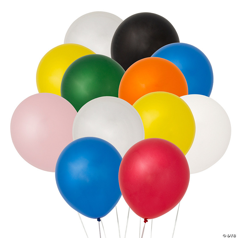 "Bulk 11"" Latex Balloon Assortment Image Thumbnail"