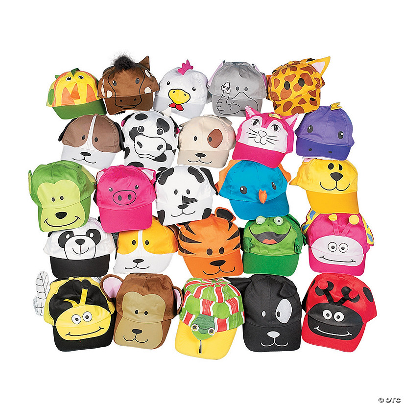 Bulk Animal Baseball Cap Assortment Image Thumbnail