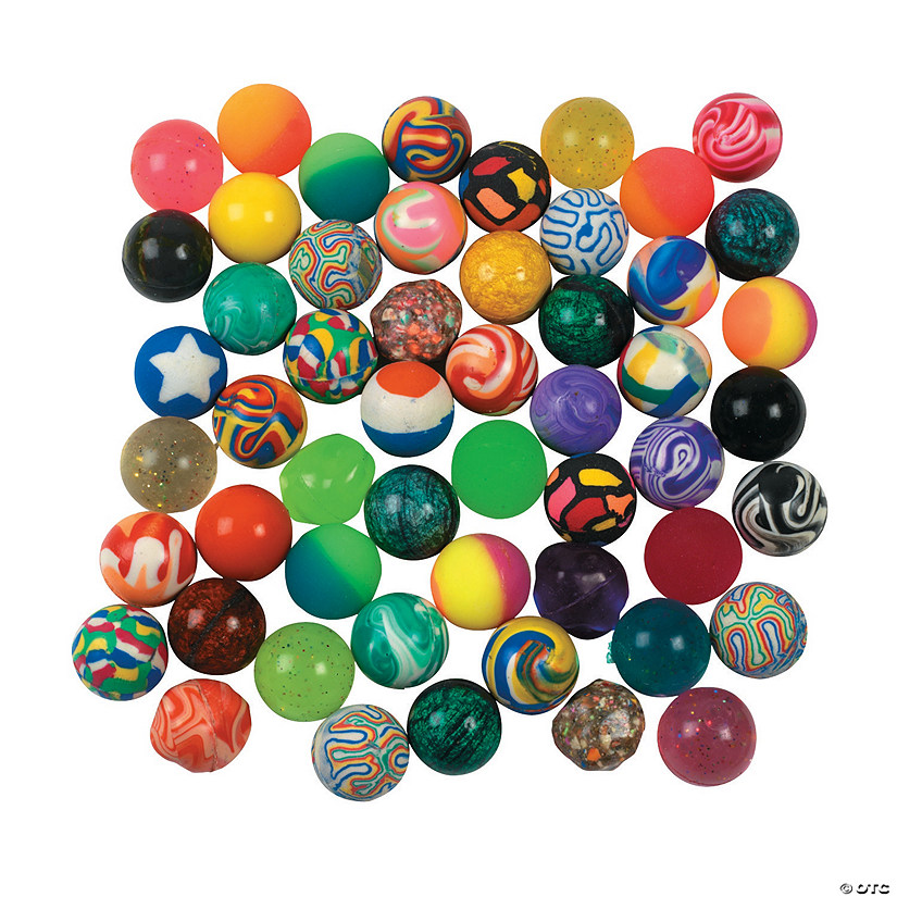 Bulk Bouncy Ball Assortment - 250 Pc. Image Thumbnail