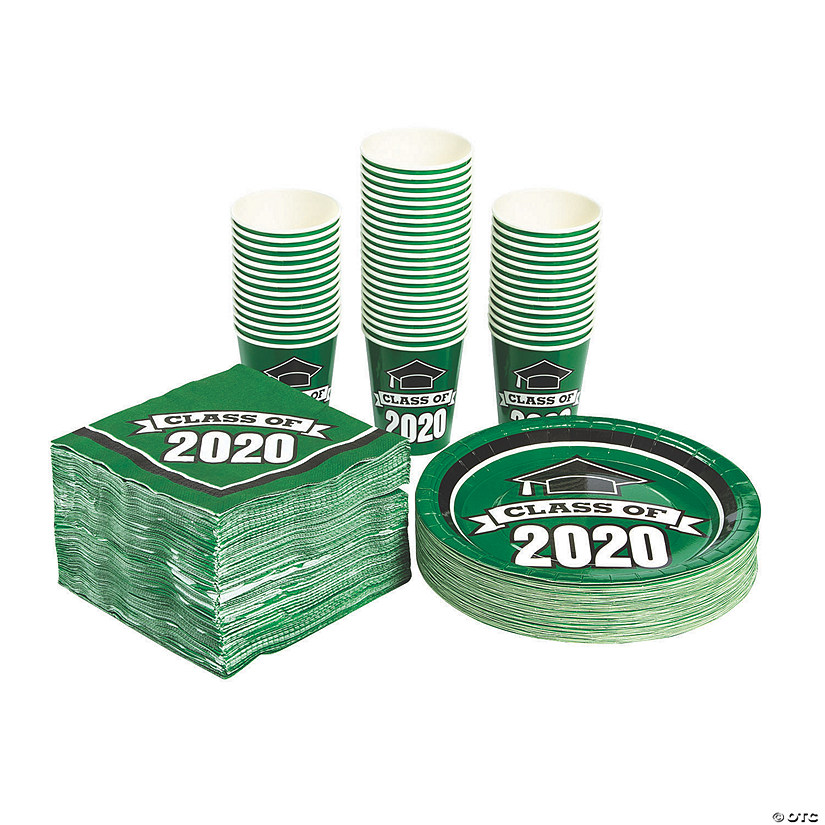 Bulk Class of 2020 Green Tableware Kit for 50 Guests Audio Thumbnail
