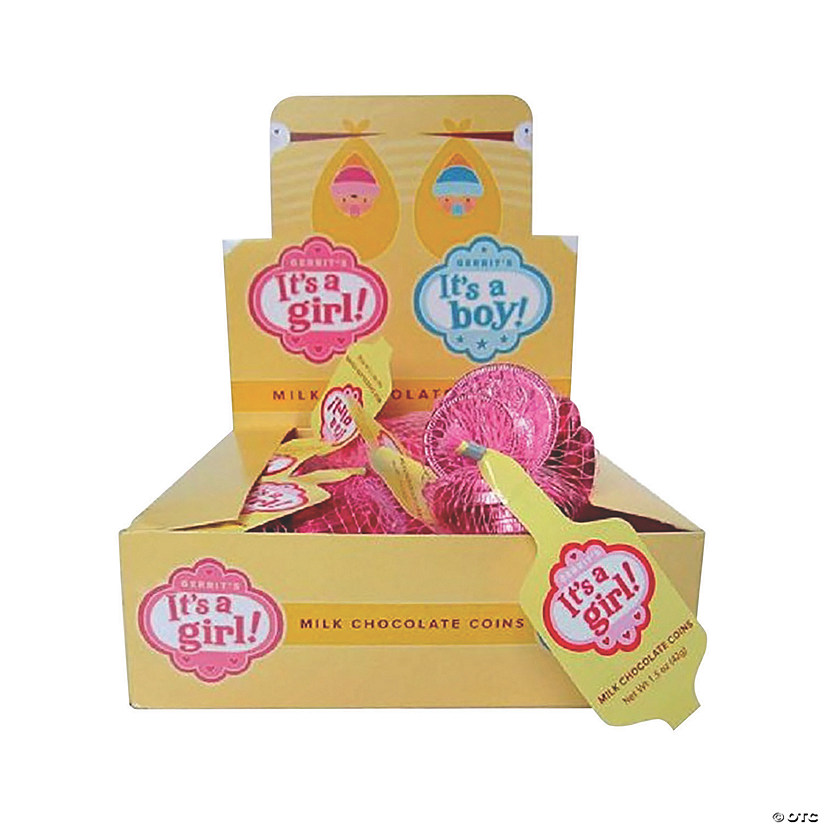 Bulk Fort Knox It'S A Girl! Chocolate Coins - 18 Bags Image Thumbnail