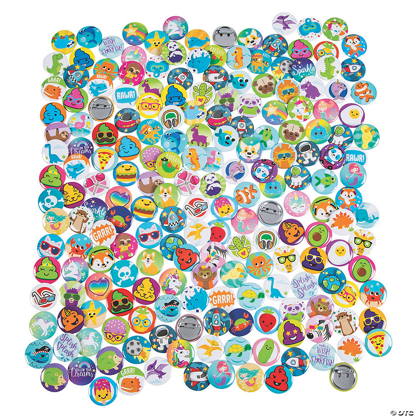 Bulk Fun Mini Button Assortment - 200 Pc. Image Thumbnail
