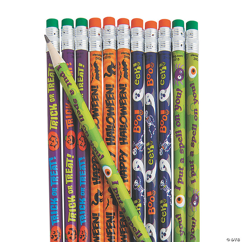 Bulk Halloween Pencil Assortment - 144 Pc. Image Thumbnail