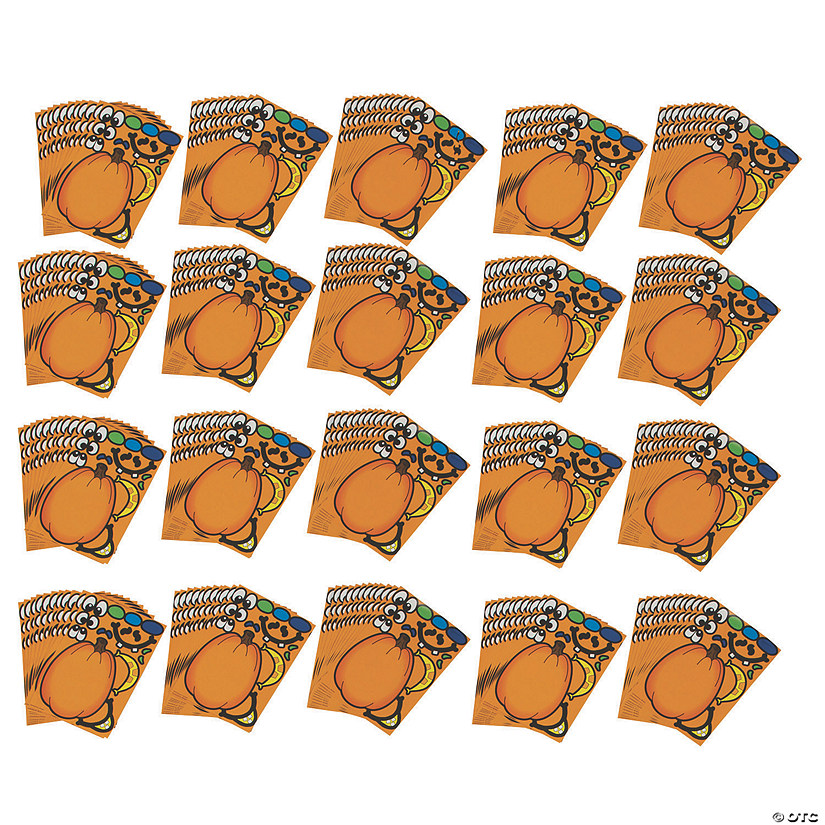 Bulk Jack-O'-Lantern Sticker Sheets - 240 Pc. Image Thumbnail