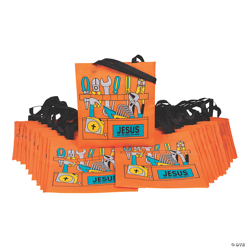 Bulk Large Construction VBS Toolbox Tote Bags Image Thumbnail