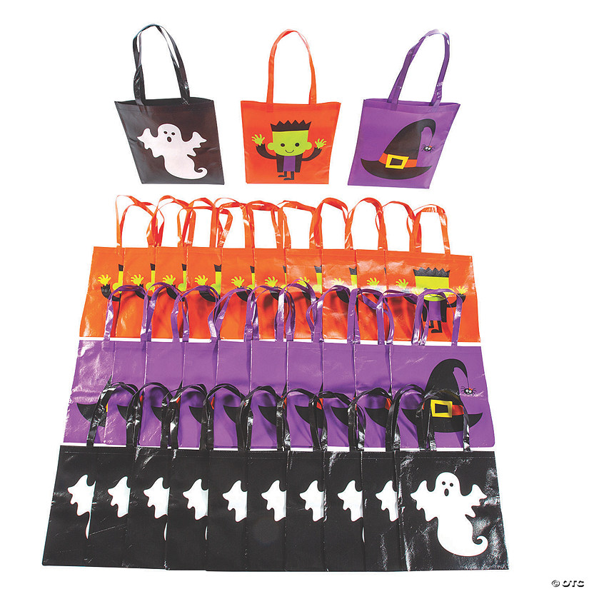 Bulk Large Halloween Character Tote Bags - 48 Pc. Image Thumbnail