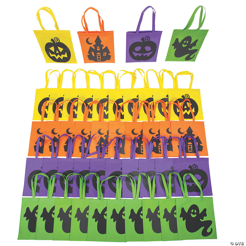 Bulk Large Iconic Halloween Tote Bags - 180 Pc. Image Thumbnail