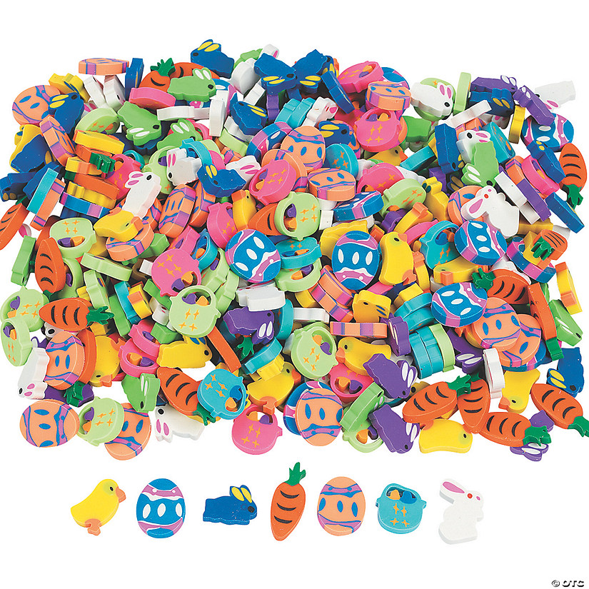Bulk Mini Easter Eraser Assortment- 500 Pc. Image Thumbnail