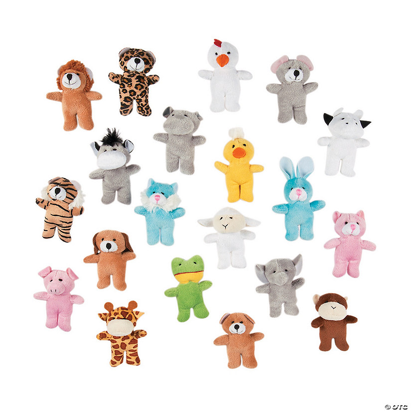 Bulk Mini Stuffed Animal Assortment - 100 Pc. Image Thumbnail