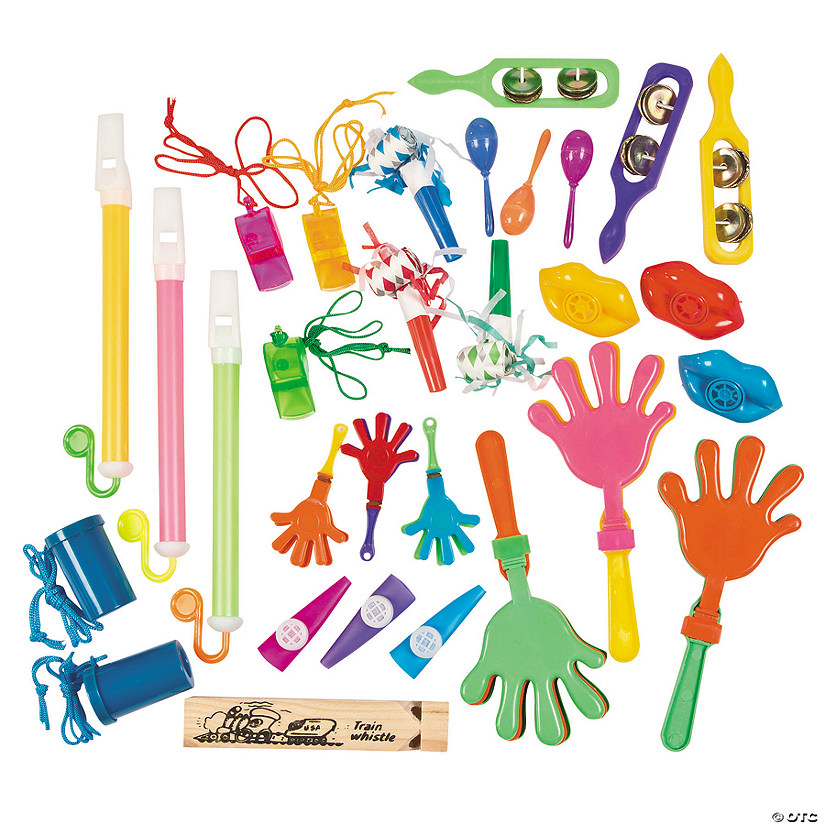 Bulk Noisemaker Assortment - 100 pcs. Audio Thumbnail