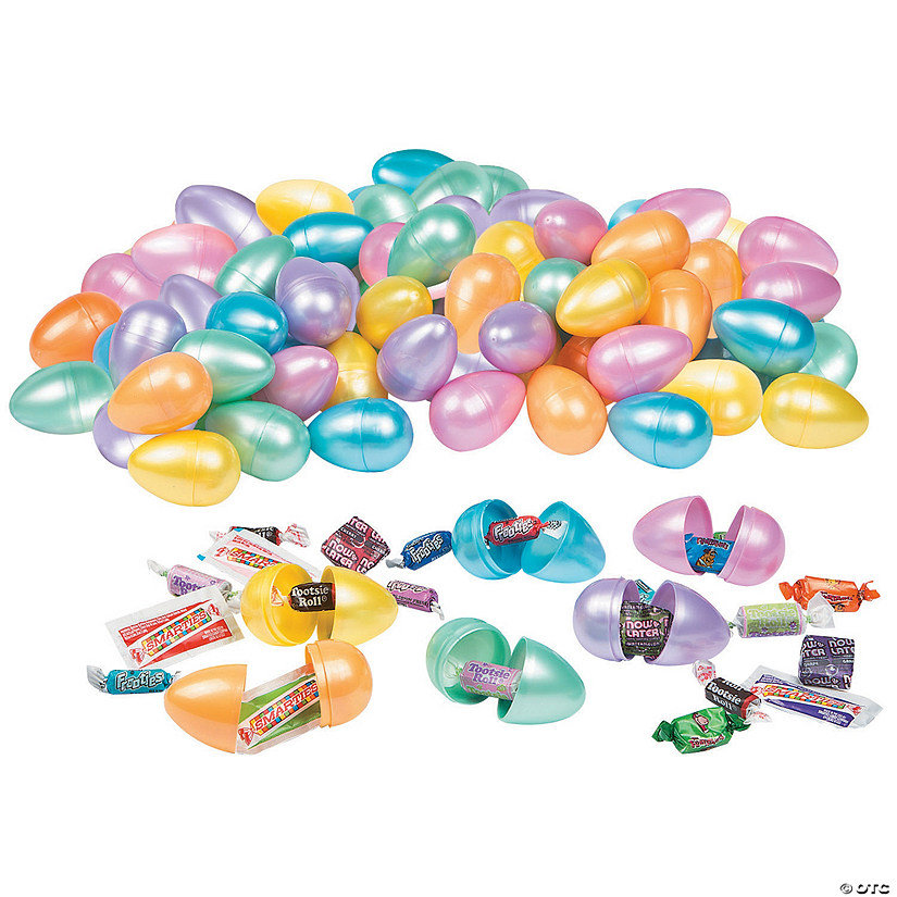 Bulk Pearlized Candy-Filled Plastic Easter Eggs - 1000 Pc. Audio Thumbnail