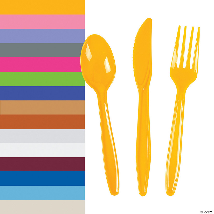 Bulk Plastic Cutlery Sets for 70 - 210 Ct.