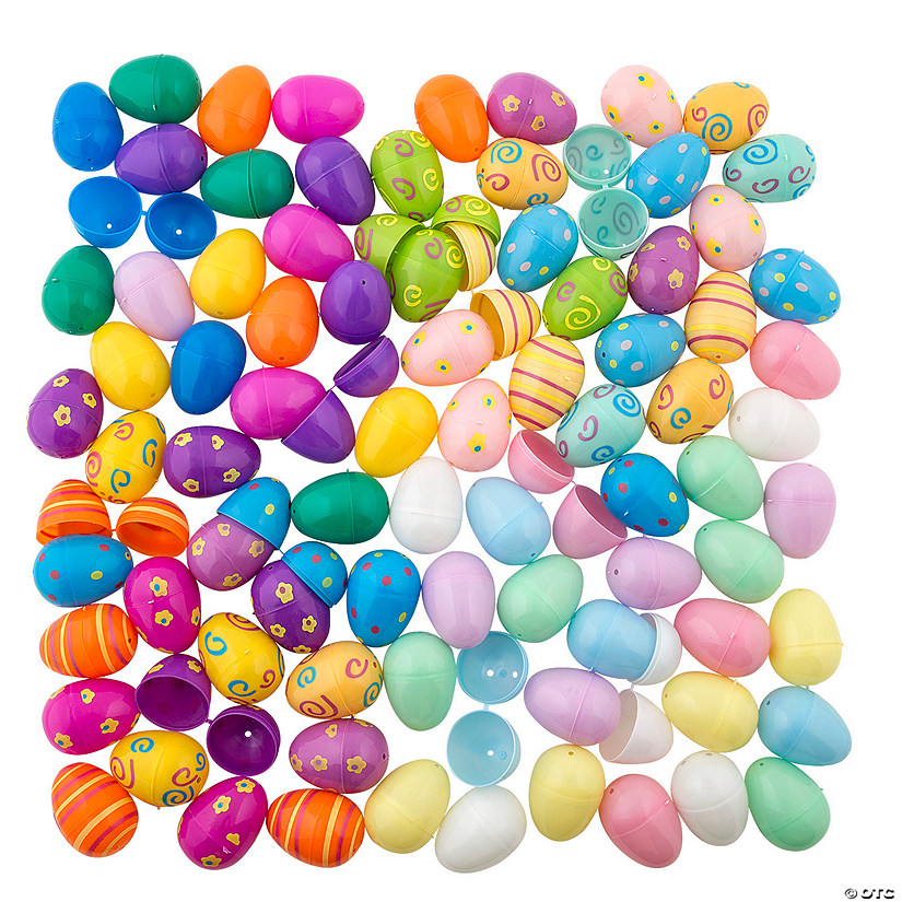 Bulk Plastic Easter Egg Assortment - 864 Pc. Image Thumbnail