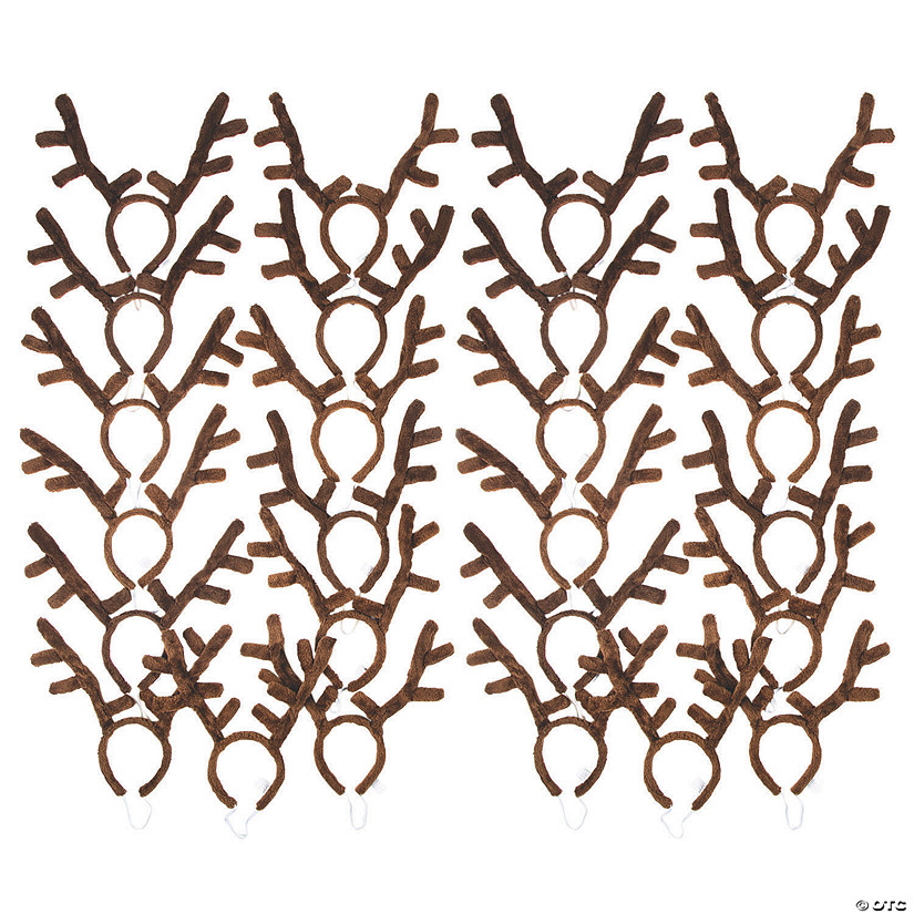 Bulk Plush Reindeer Antler Headbands - 144 Pc. Audio Thumbnail