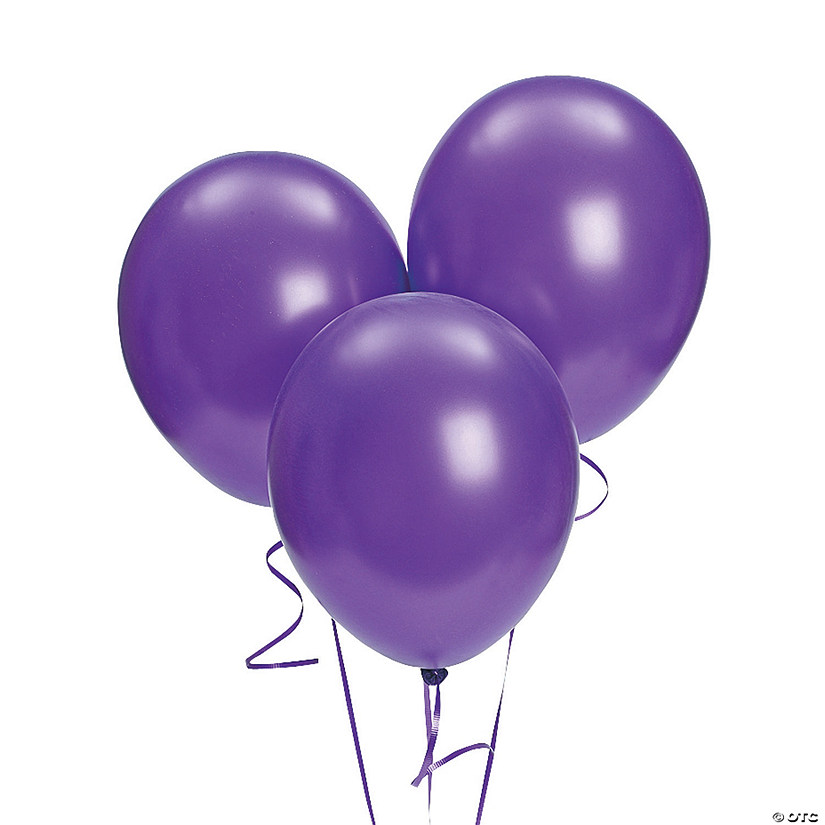 "Bulk Purple Metallic 11"" Latex Balloons Audio Thumbnail"