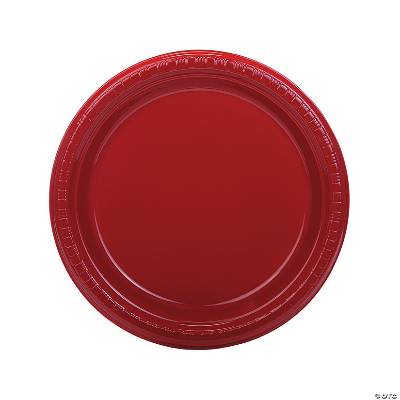 Bulk Red Plastic Dinner Plates - 50 Ct. Audio Thumbnail