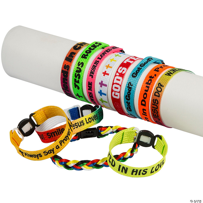 Bulk Religious Friendship Bracelet Assortment - 150 Pc. Image Thumbnail