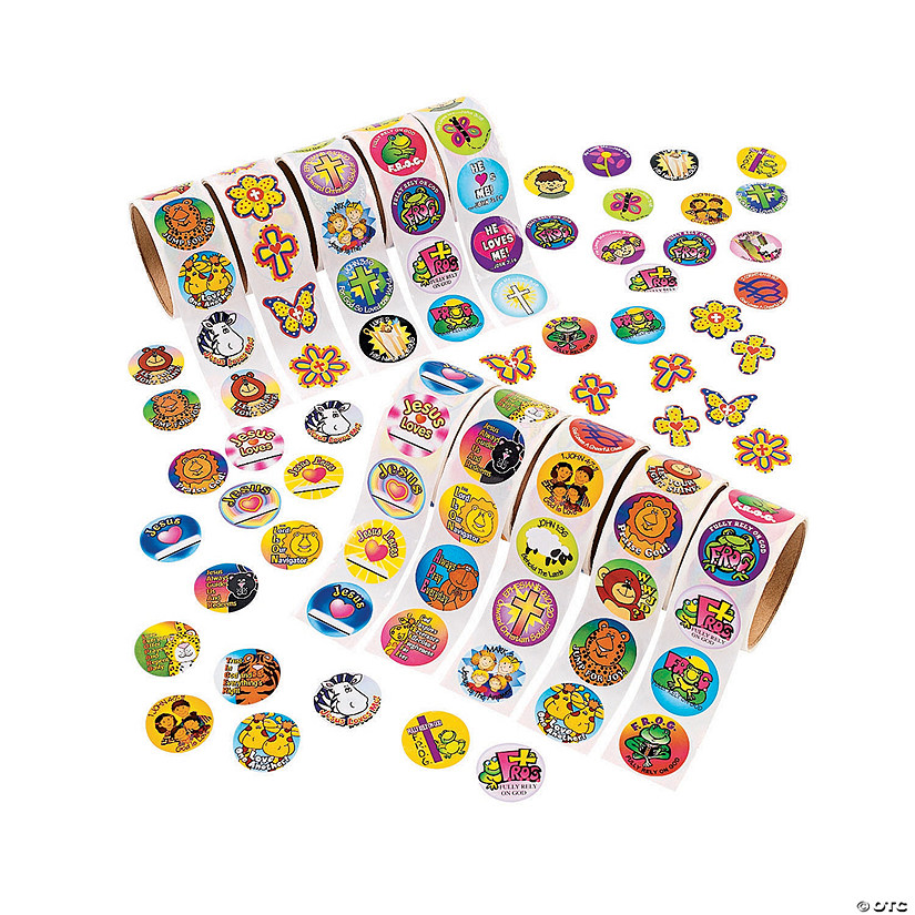 Bulk Religious Rolls of Stickers Assortment Audio Thumbnail