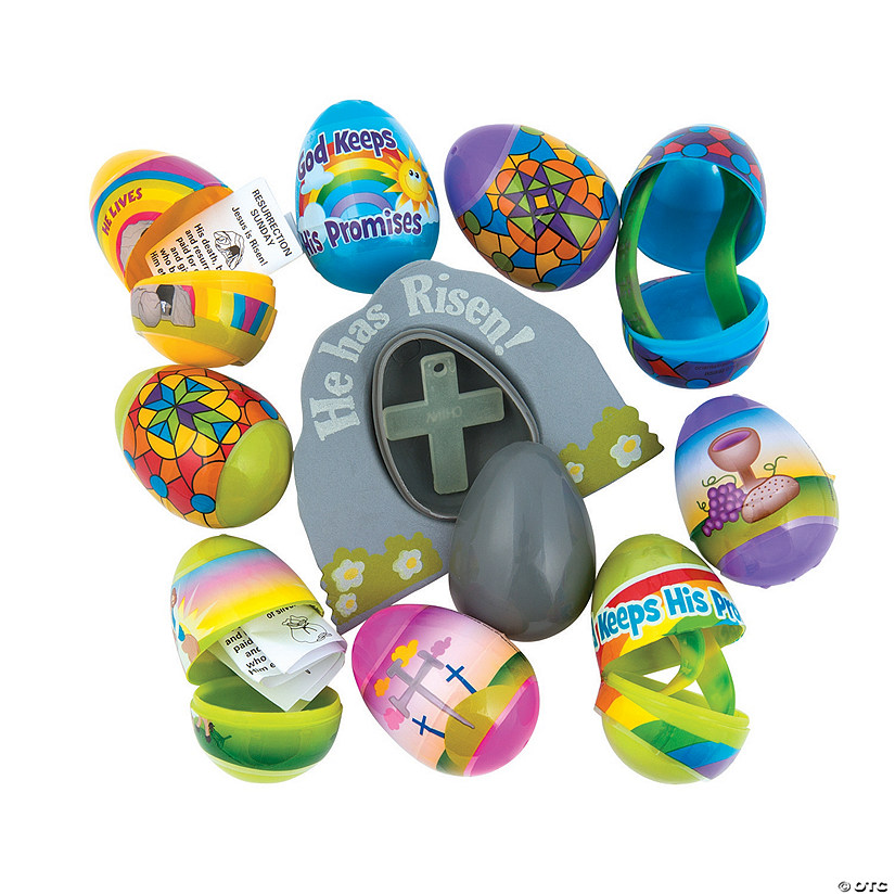 Bulk Religious Toy-Filled Plastic Easter Egg Assortment - 144 Pc. Audio Thumbnail