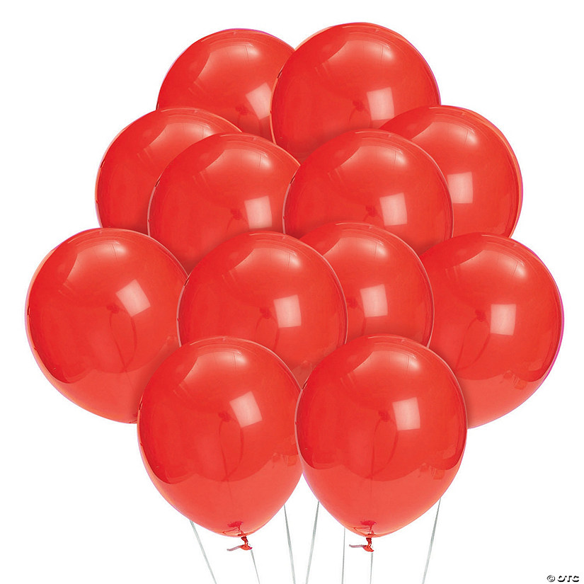 "Bulk Ruby Red 11"" Latex Balloons - 144 Pc. Image Thumbnail"