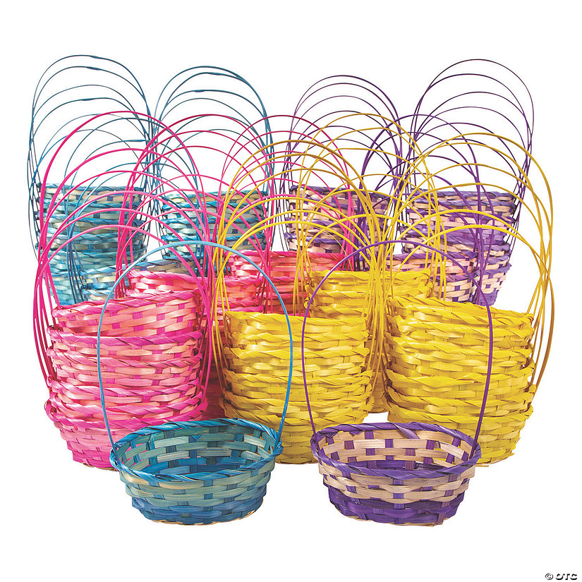 Bulk Small Ombre Bamboo Baskets - 72 Pc. Audio Thumbnail