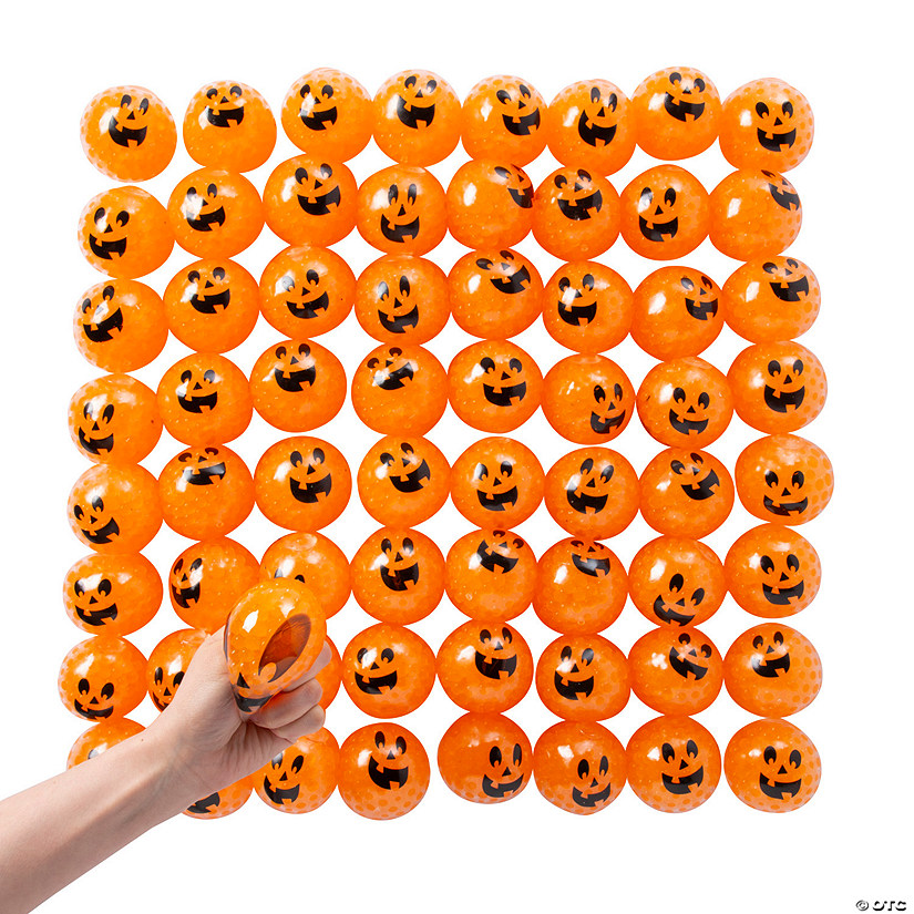 Bulk Squishy Water Beads Pumpkin Balls - 72 Pc. Image Thumbnail
