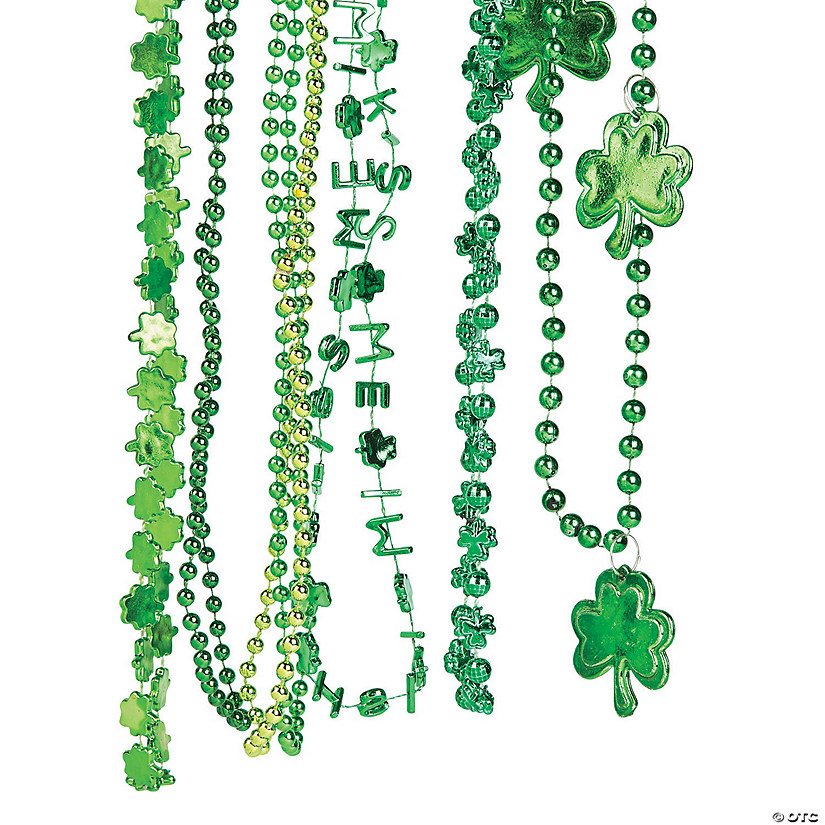Bulk St. Patrick's Day Beaded Necklace Assortment - 144 Pc. Image Thumbnail