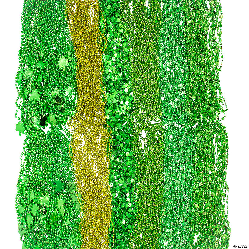 Bulk St. Patrick's Beaded Necklace Assortment - 264 Pc. Audio Thumbnail