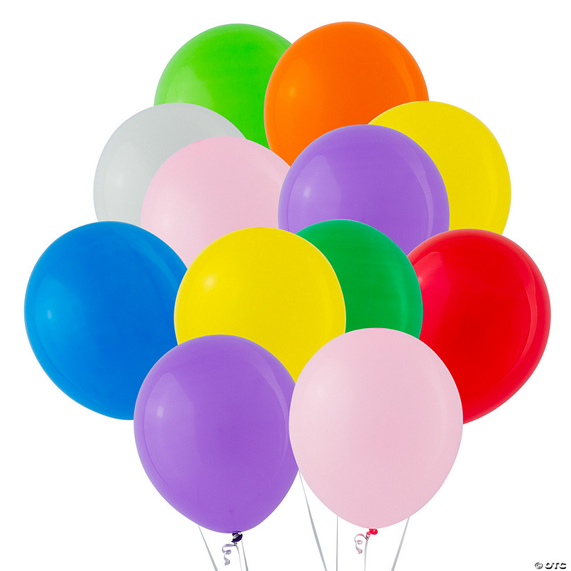 "Bulk Standard Color 11"" Latex Balloons Image Thumbnail"