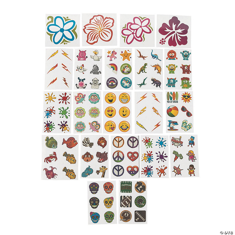 Bulk Temporary Tattoo Assortment - 1500 Pc. Audio Thumbnail
